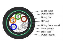 Single Mode Optical Fibre Cable with Dual Sheath