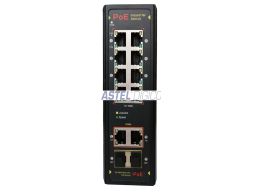INDUSTRIAL SWITCH UNMANAGED 8 PORT POE WITH 2 UPLINK AND 2 FIBER PORTS